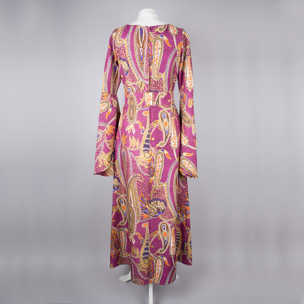 1970s floaty vintage designer maxi dress by Hilary Floyd