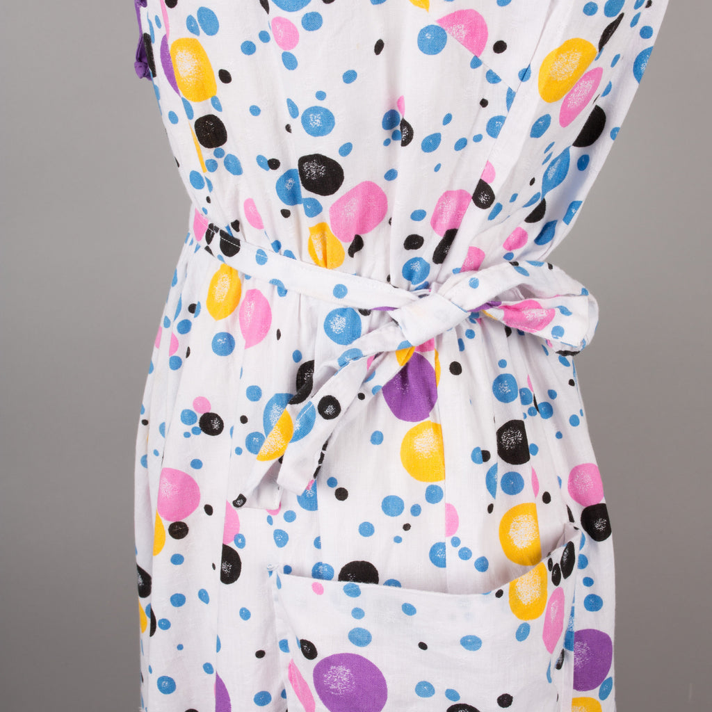 1980s bubble print vintage cotton dress