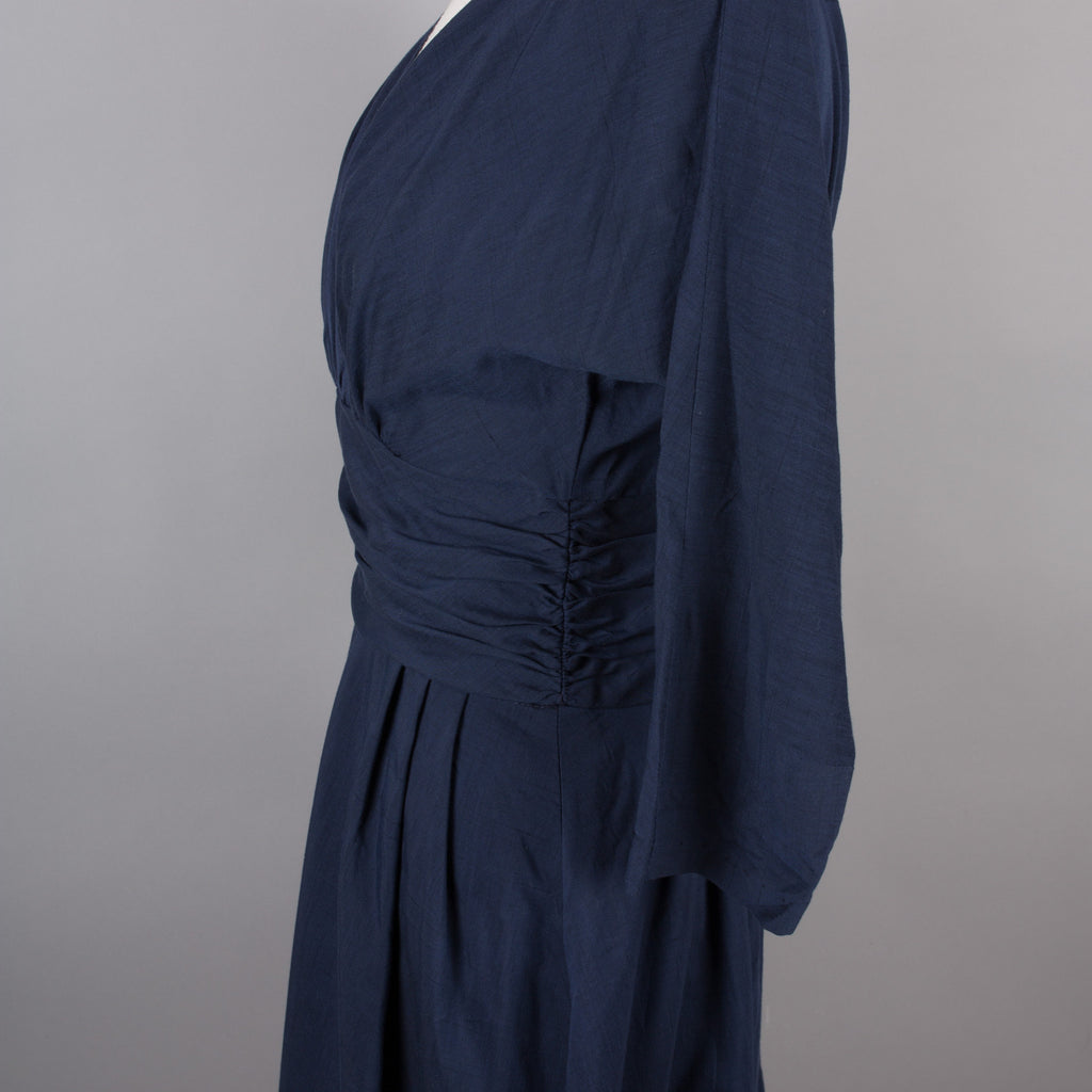 1950s navy blue vintage cocktail dress