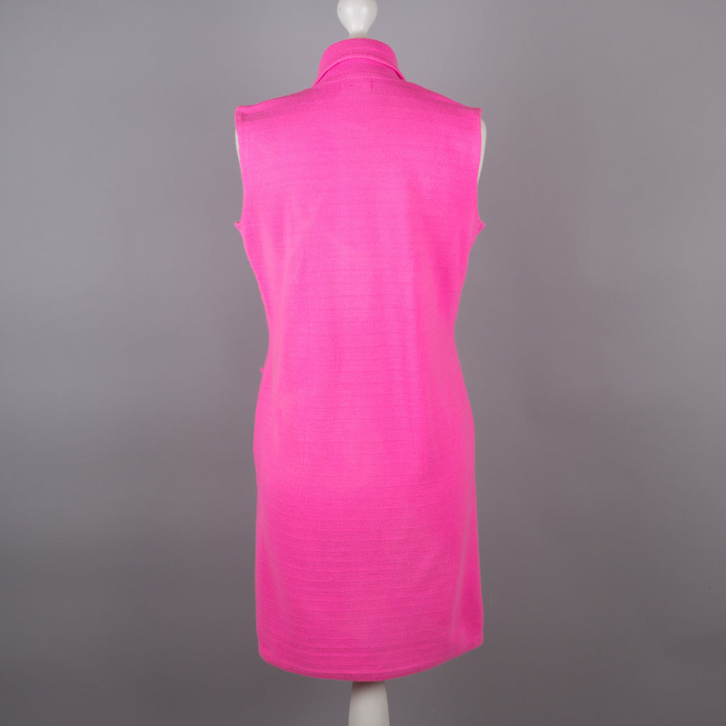 1960s neon pink Dralon vintage shift dress