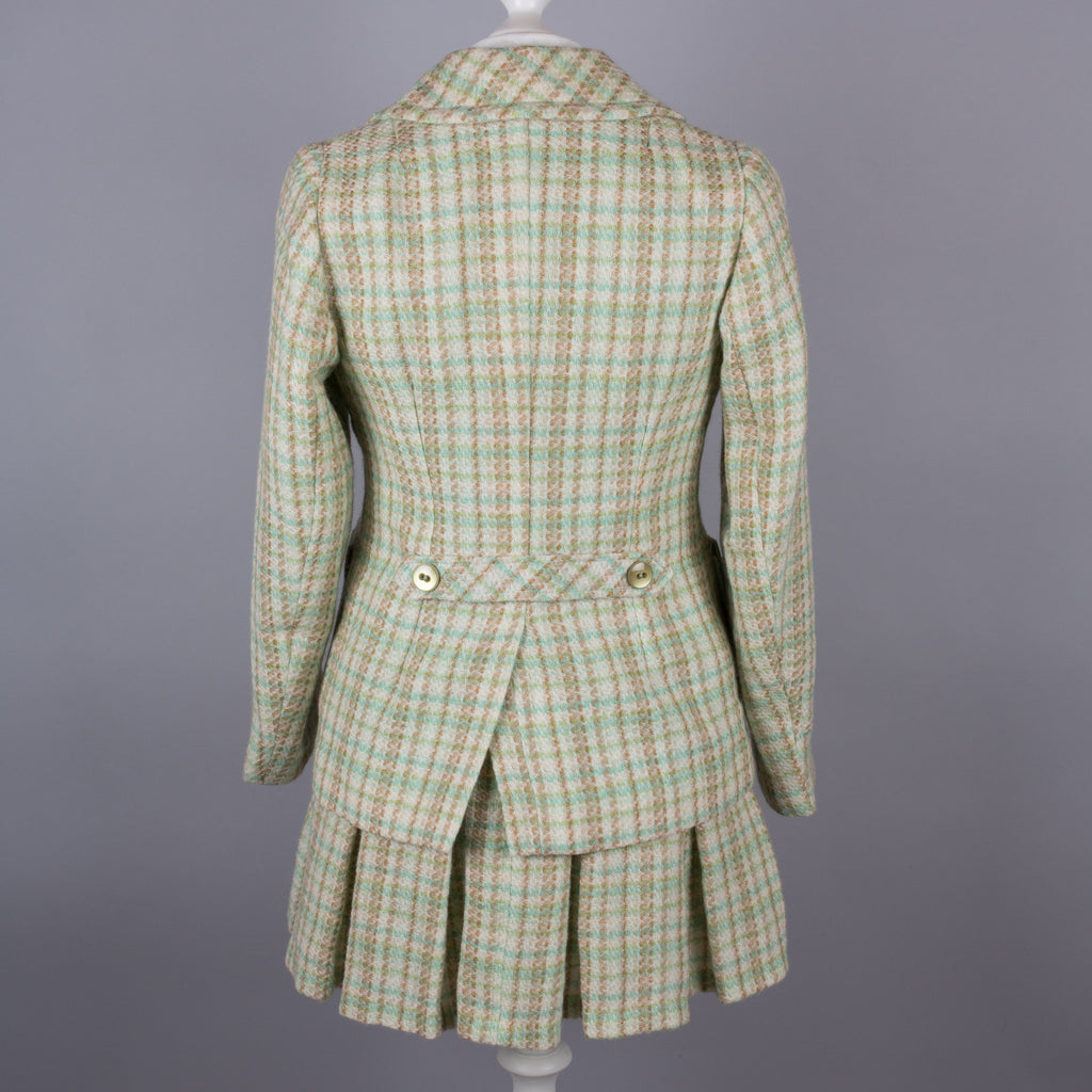 1960s plaid wool vintage two piece suit