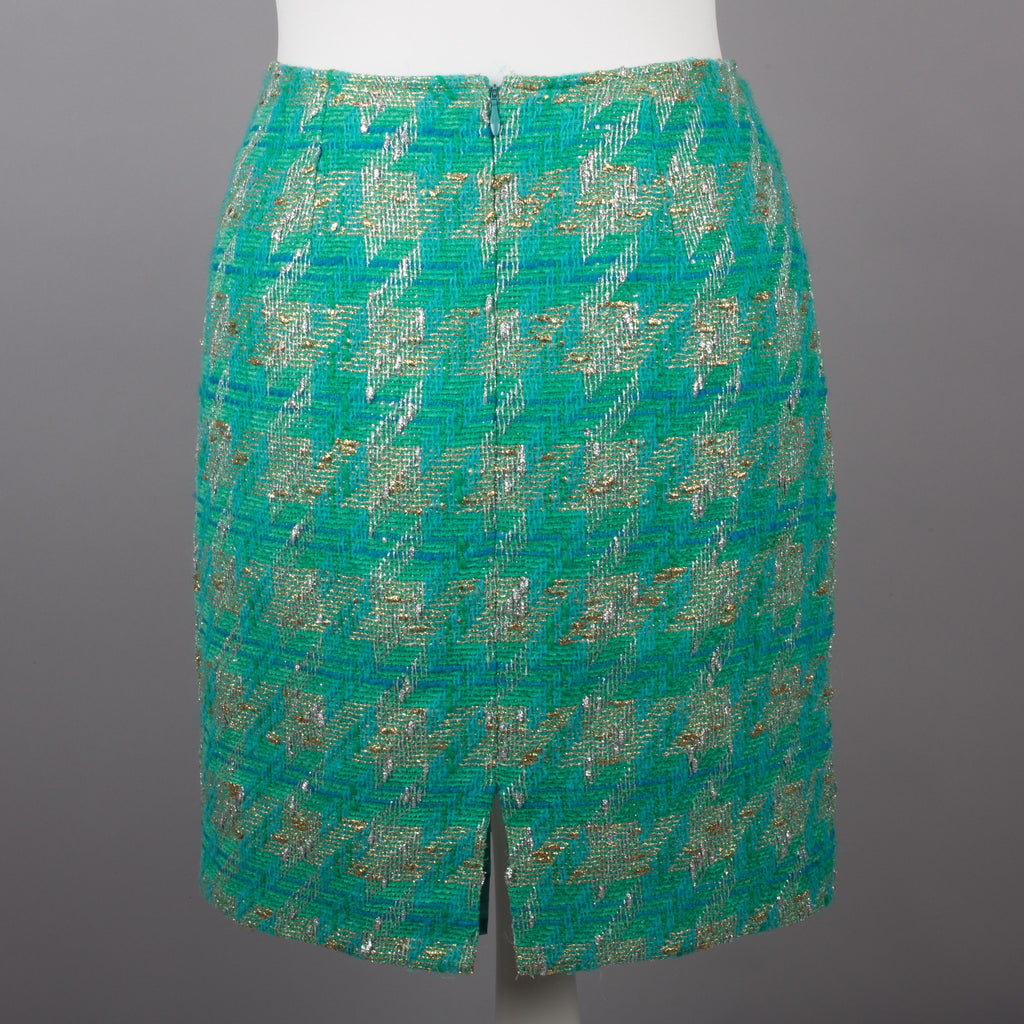 1980s green and gold vintage skirt