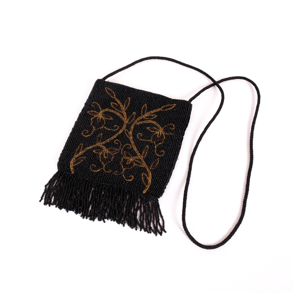 Fringed and beaded vintage flapper bag