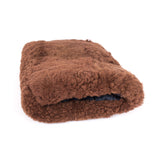 Brown faux fur vintage hand muff