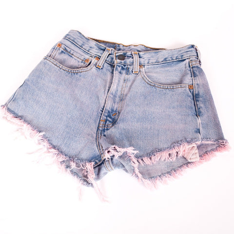 Levi cut off vintage denim shorts