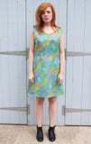 1960s colourful vintage shift dress