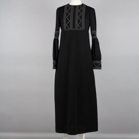 1970s black vintage evening dress by Jean Varon