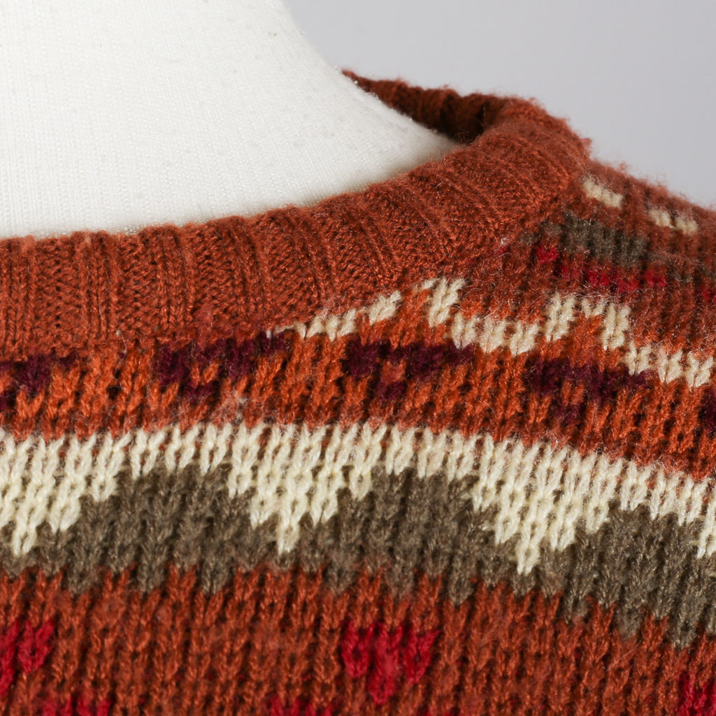 1970s Fairisle vintage sweater by Richard Shops