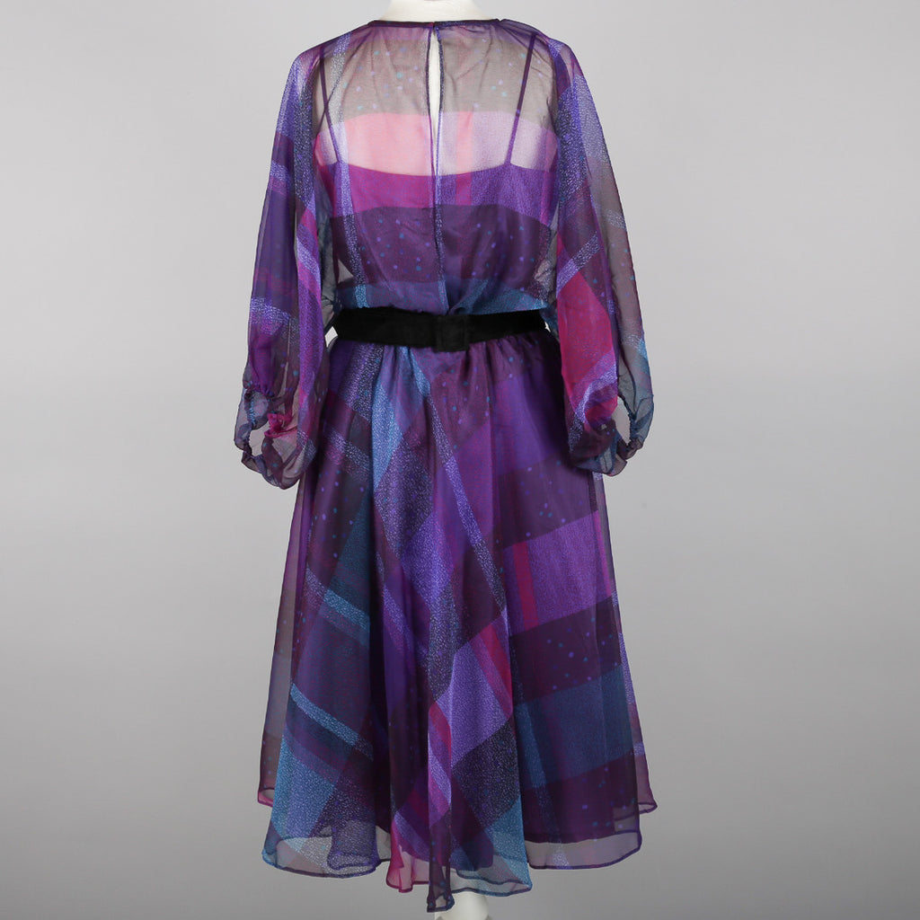 1980s chiffon cocktail dress by Berketex