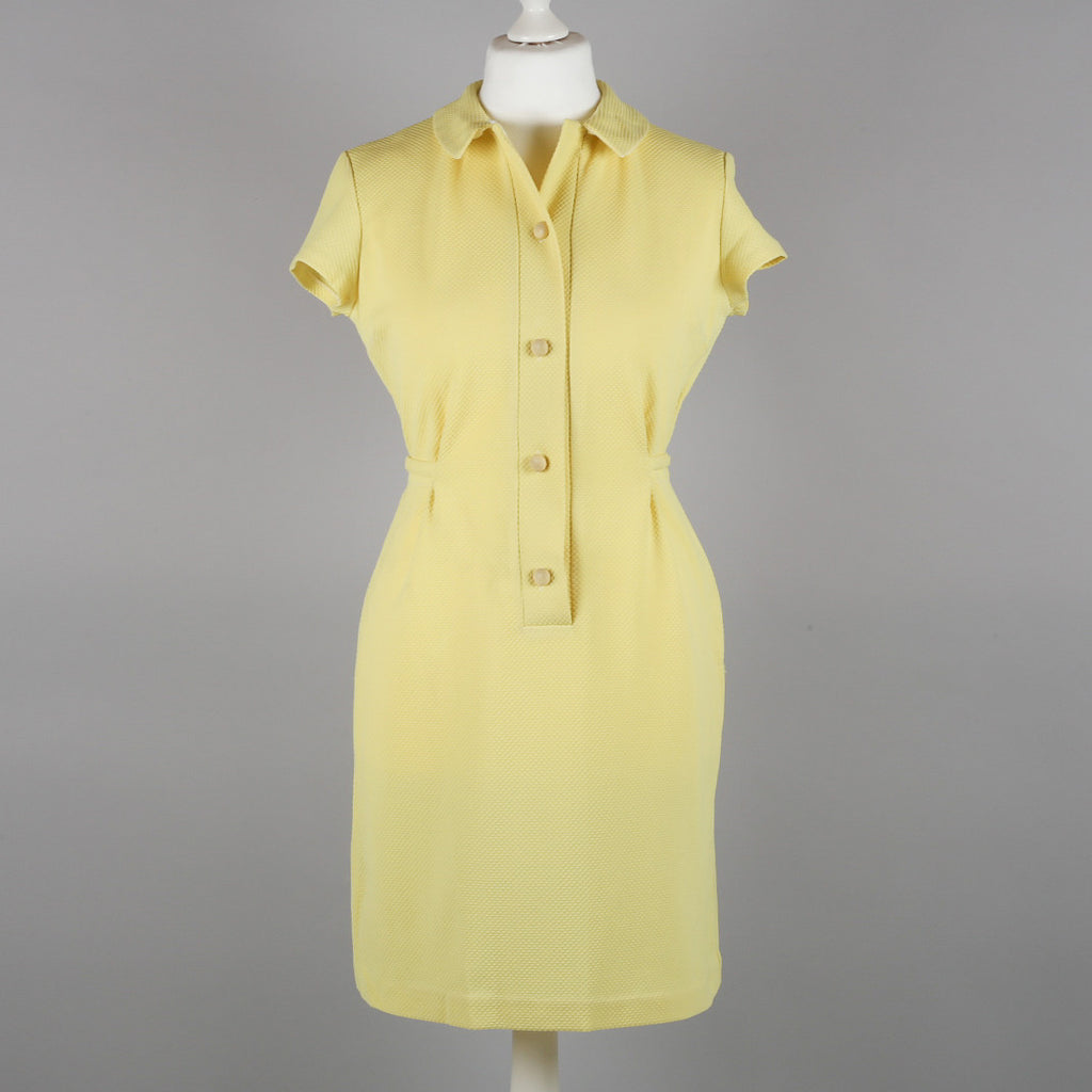 1960s yellow terylene vintage dress