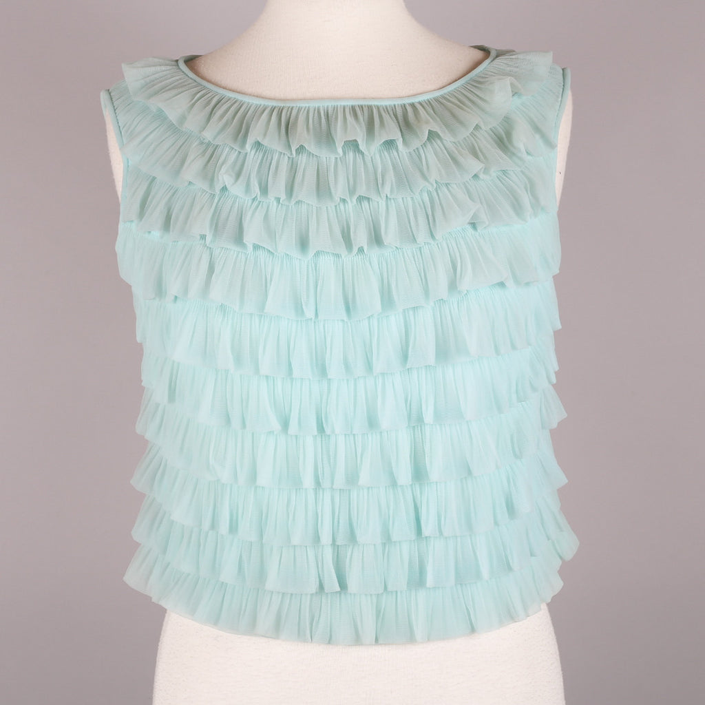 1960s ruffled vintage top by St Michael