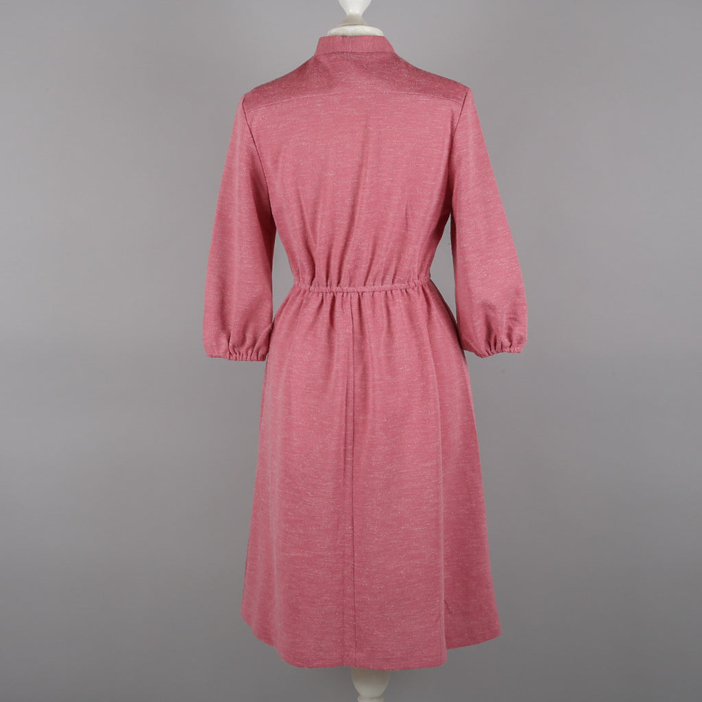 1970s dusky pink vintage dress by Linzi