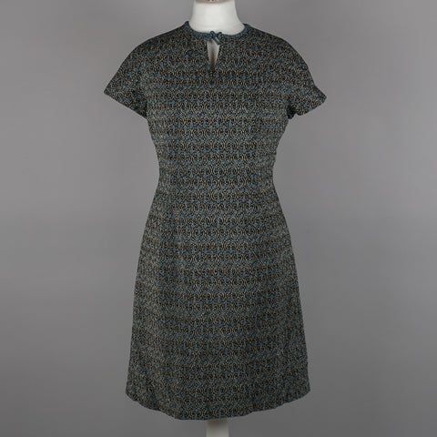 1960s day to evening brocade vintage dress