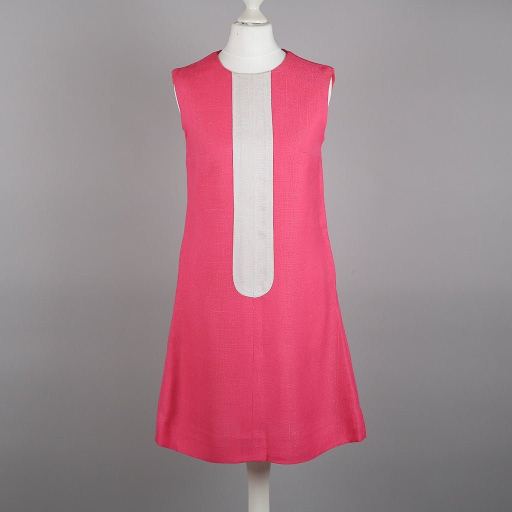 1960s pink vintage mod shift dress