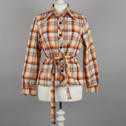 1970s check vintage blouse by St Michael