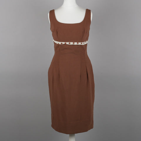 1960s brown vintage wiggle dress