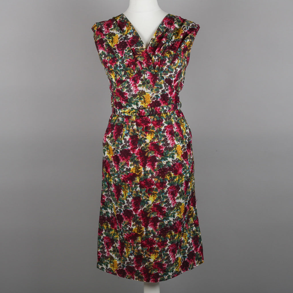 1950s floral cocktail dress by Kitty Copeland