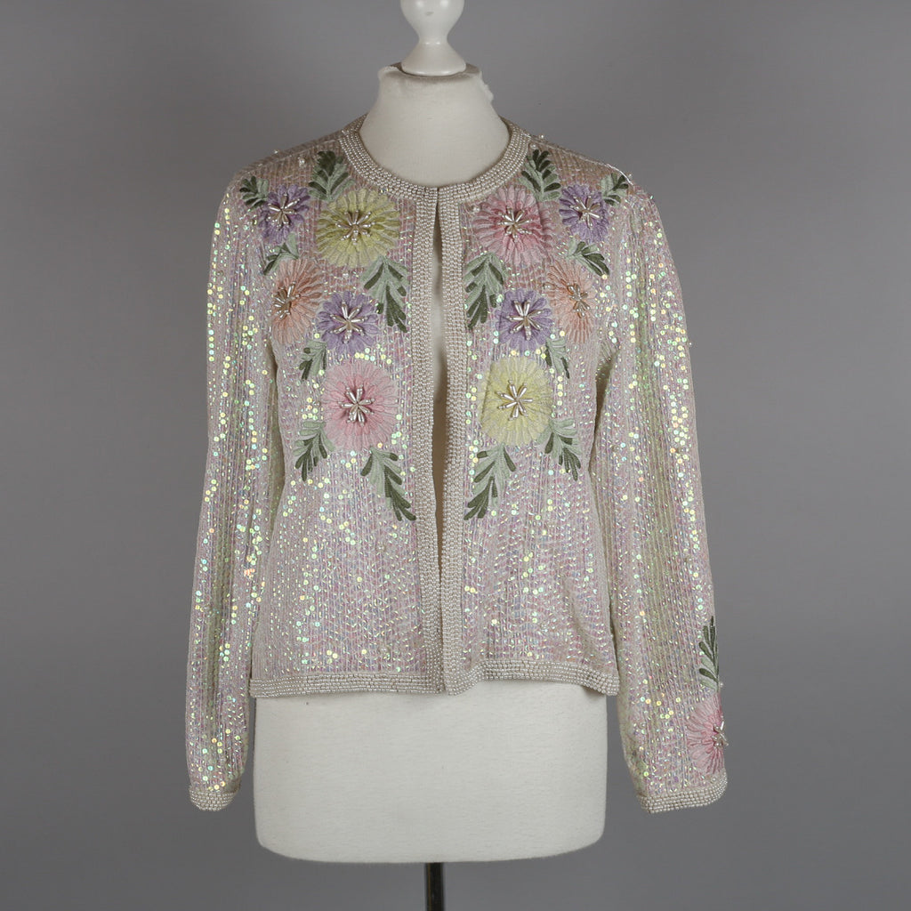 1980s embellished evening cardigan by John Charles