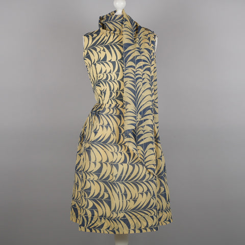 1960s abstract print day to evening dress