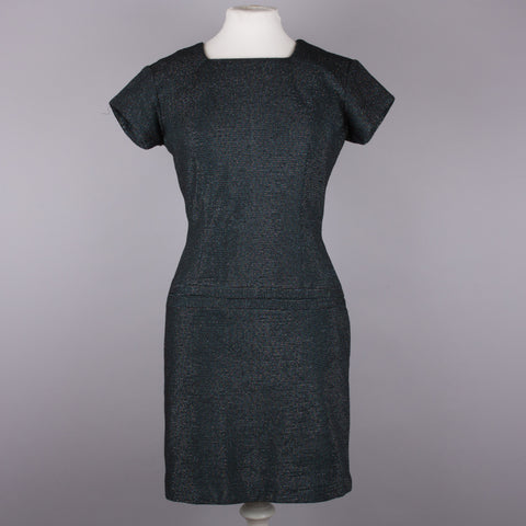 1960s sparkly lurex vintage wiggle dress