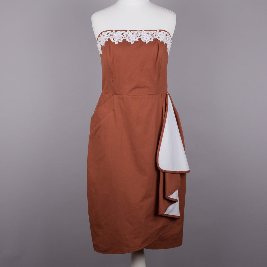 1980s strapless vintage cocktail dress