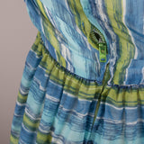 1950s striped chiffon vintage dress
