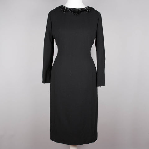1960s chic little black vintage dress