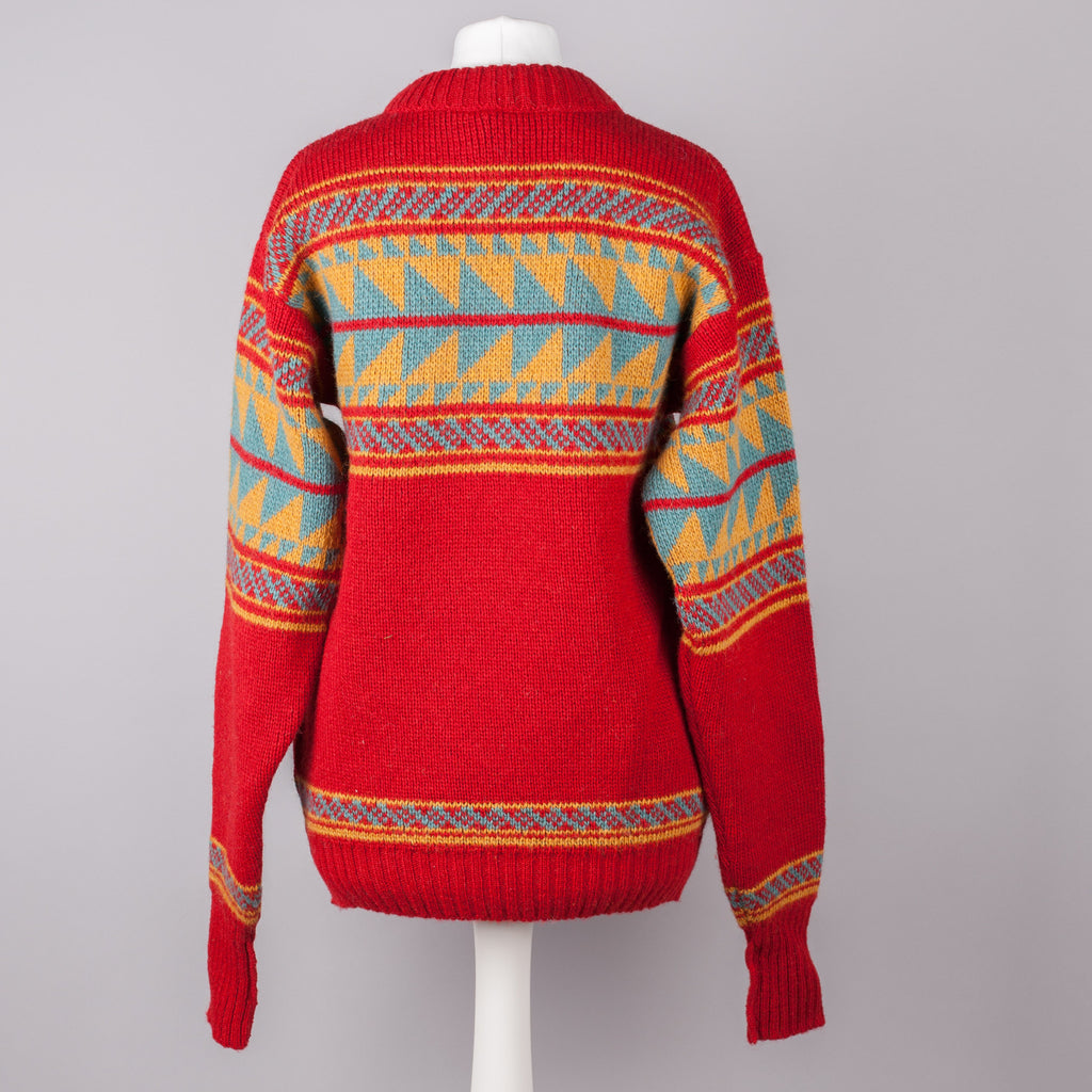 Red Scandinavian design vintage sweater