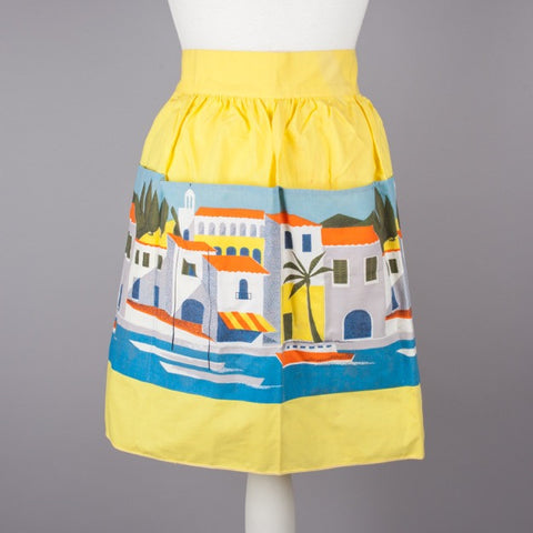1950s vintage cotton apron by St Michael