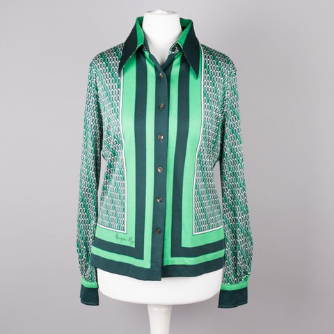 1960s Jersey Masters vintage box blouse