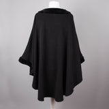 Black polar fleece vintage cape