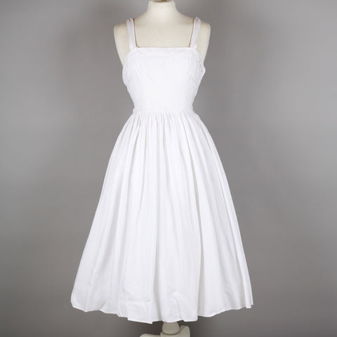 1960s white vintage party dress