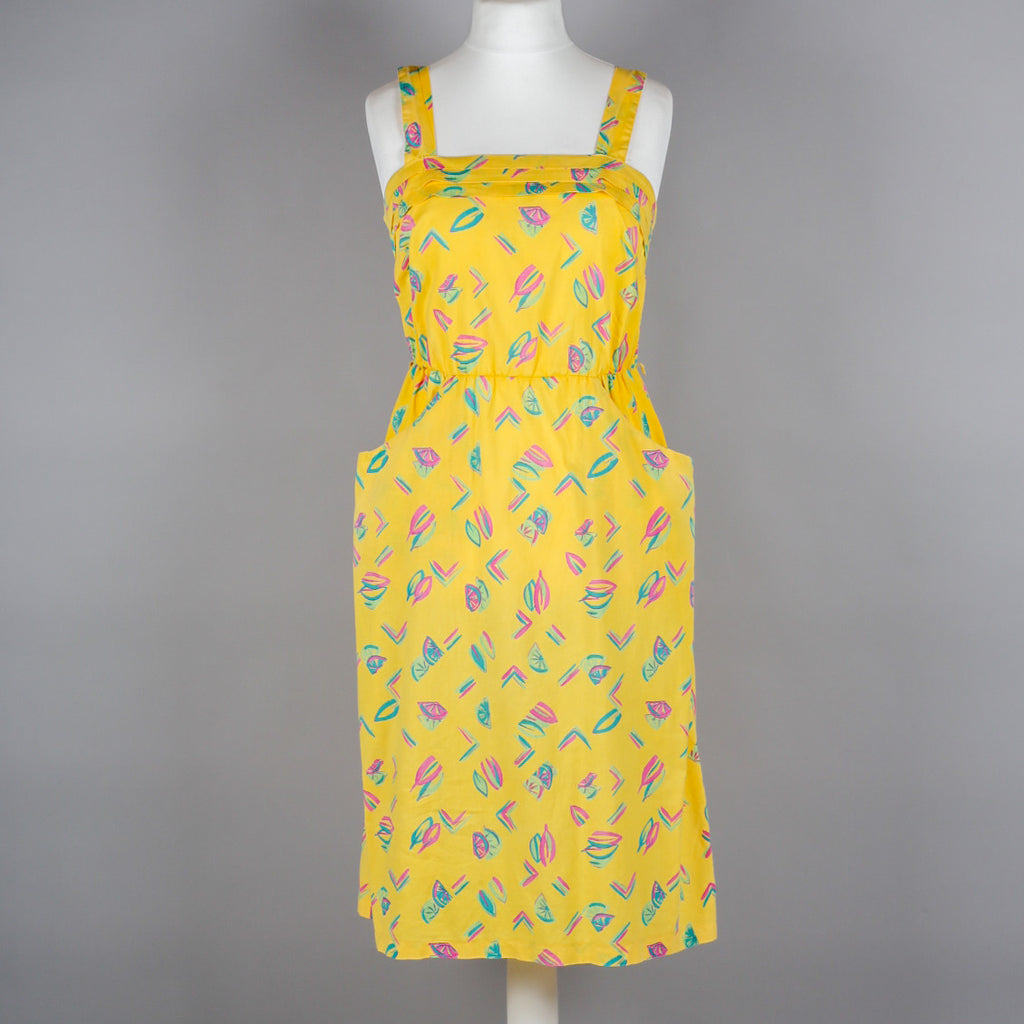 1980s yellow cotton vintage sundress