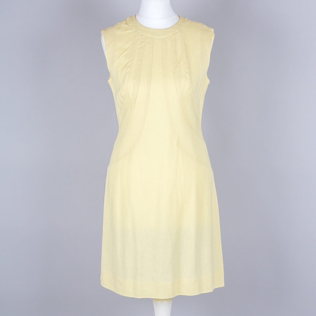 1960s lemon shift dress by Gay Gibson