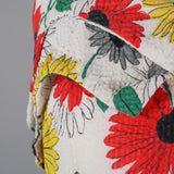 1950s daisy print seersucker vintage dress