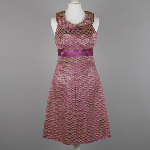 1960s metallic brocade vintage cocktail dress