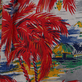 RESERVED FOR LISA - 1950s red palm tree print vintage dress
