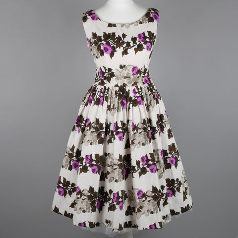 1950s roses vintage dress by Jonathan Logan