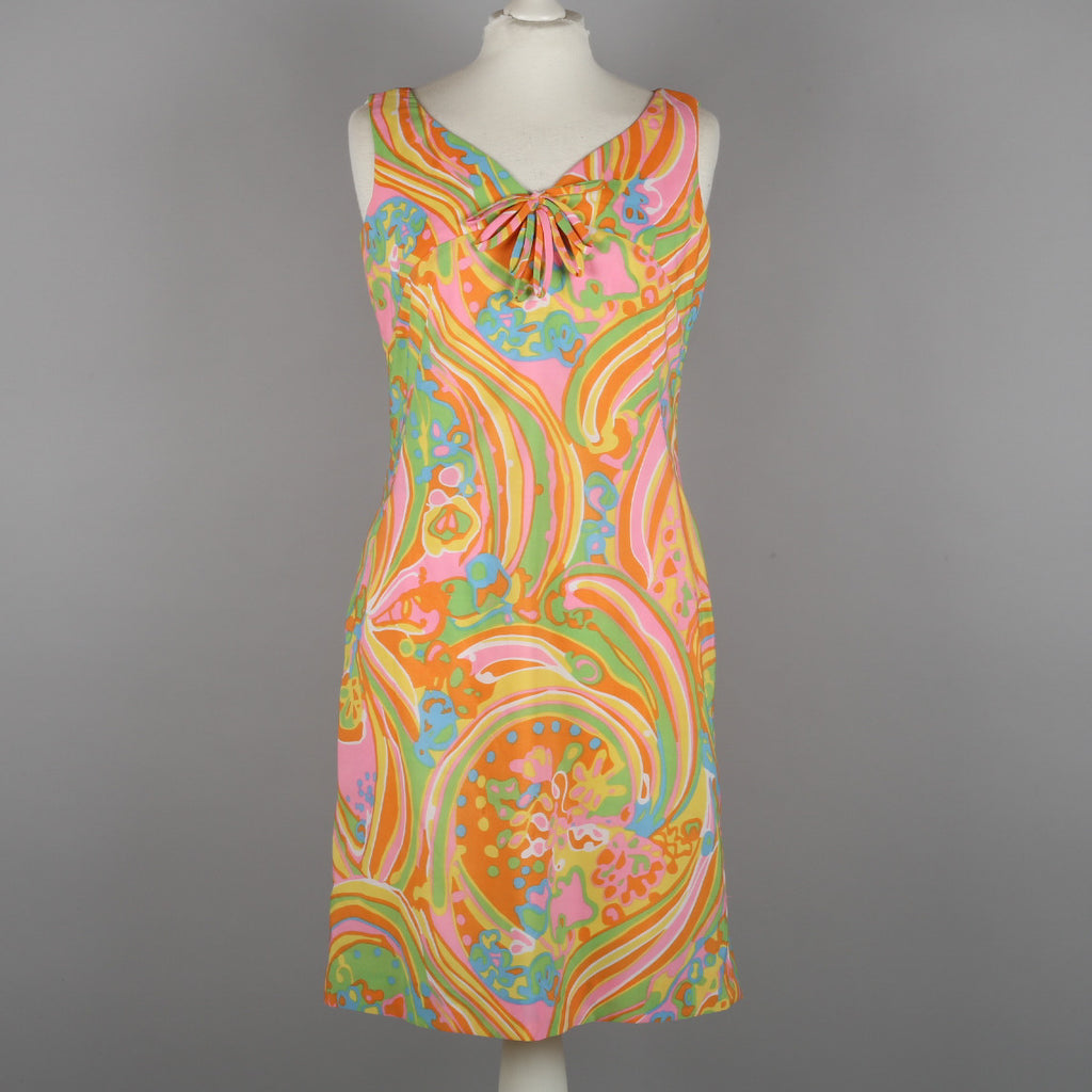 1960s psychedelic vintage shift dress