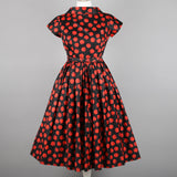 RESERVED FOR DEBORAH - 1950s polkadot cocktail dress by Victor Josselyn