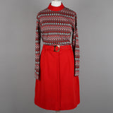 1970s acrylic knit vintage day dress