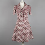 1960s daisy print crimplene vintage dress