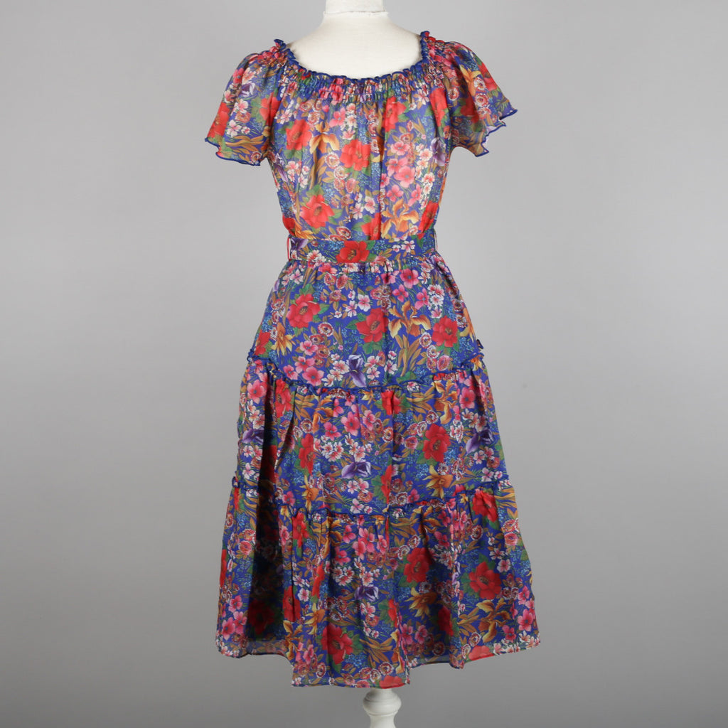 1970s floral vintage St Michael gypsy dress