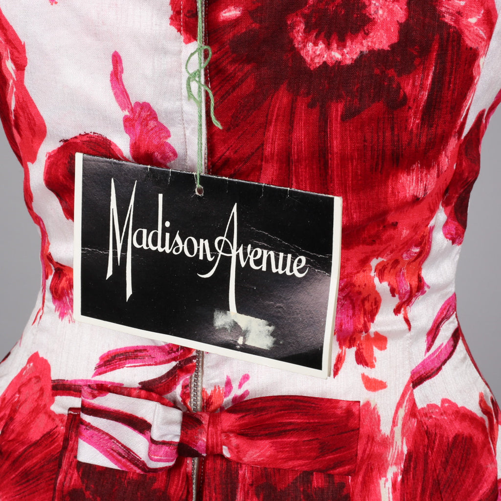 1950s vintage cocktail dress by Madison Avenue