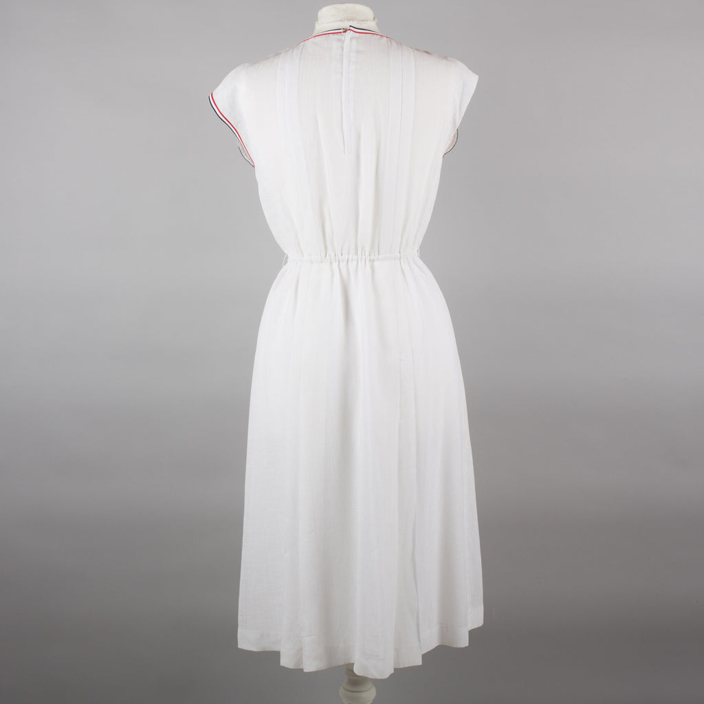 1980s white vintage day to evening dress