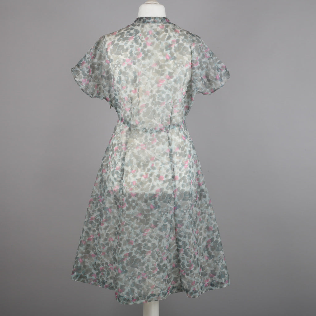 1950s sheer chiffon vintage party dress