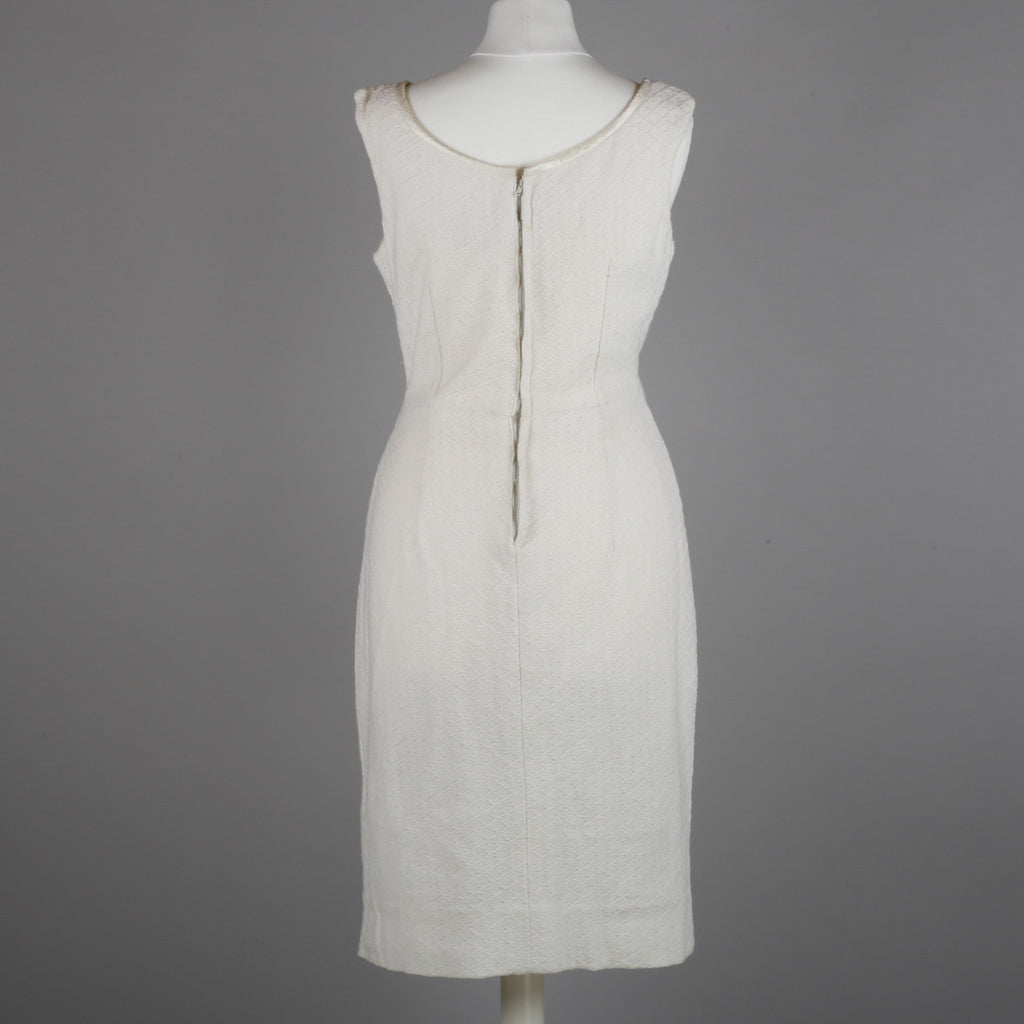 1950s polar white vintage cocktail dress
