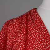 1970s red and white vintage day dress