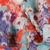 1980s flouncy floral vintage party dress