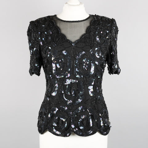 1980s  sequinned evening top by Leslie Fay